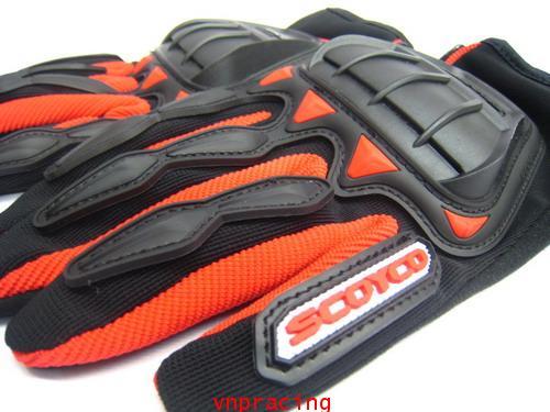 ถุงมือ SCOYCO รุ่น MC08 สีแดง