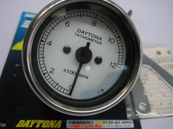 ไมล์วัดรอบ DAYTONA ไฟ LED เขียว หน้าปัดขาว