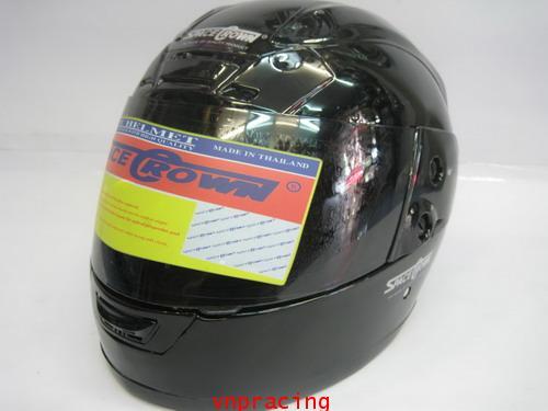 หน้าหมวกกันน๊อค SAPEC CROWN รุ่น FIGHTER สีดำ