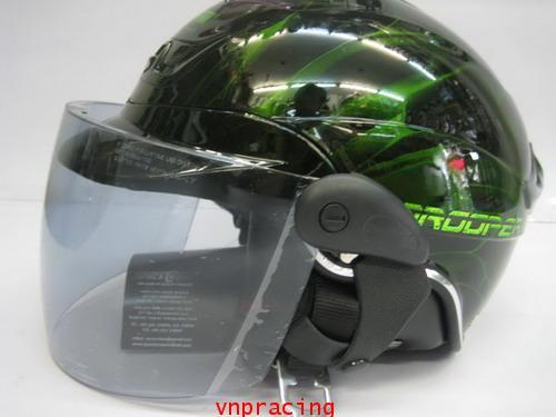 หมวกกันน็อค SAPEC CROWN รุ่น TROOPER สีเขียว