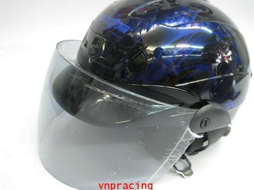 หมวกกันน็อค SAPEC CROWN รุ่น TROOPER สีนำเงิน