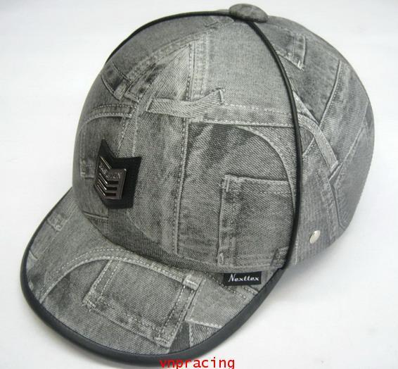 หมวกกันน๊อค nexttex ลายผ้ายีนส์สีเทา คลิ๊กดูด้านในครับ(เลิกผลิต)