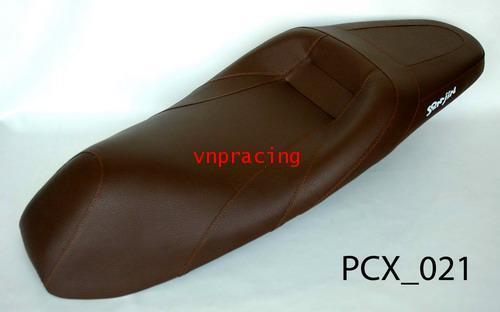 เบาะ PCX ทรงสปอร์ต สีน้ำตาล PCX 021