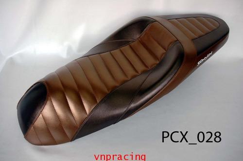 เบาะ PCX ทรงสปอร์ต สีไทเทเนียม น้ำตาล PCX 028