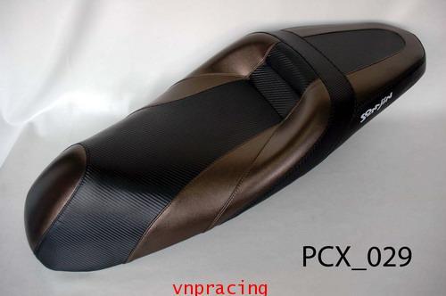 เบาะ PCX ทรงสปอร์ต สีไทเทเนียม ดำ PCX 029