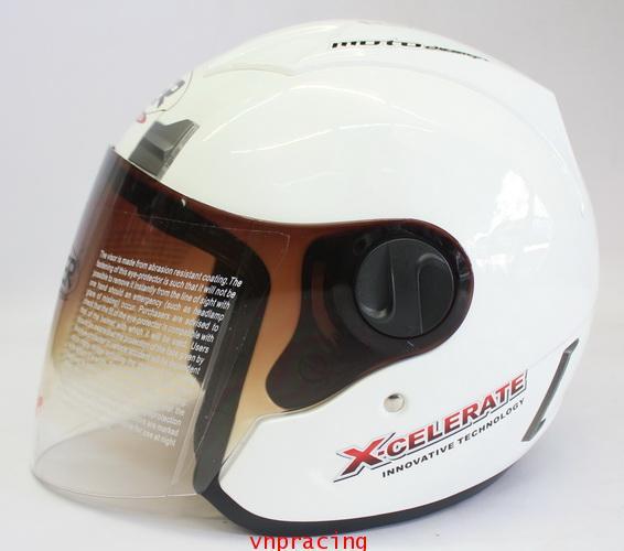 หมวกกันน็อค rider รุ่น JZ-1 สีขาว