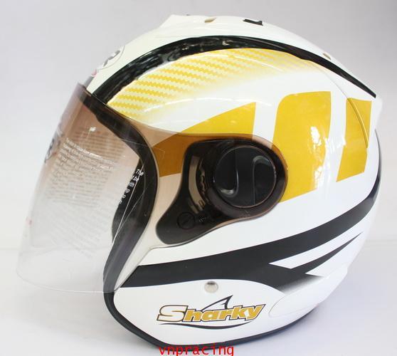 หมวกกันน็อค rider รุ่น Sharky ลาย ทองดำขาว  (เลิกผลิต)
