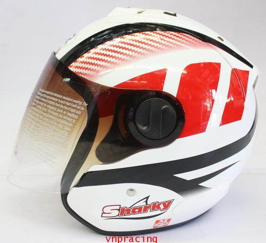 หมวกกันน็อค rider รุ่น Sharky ลาย แดงดำขาว  (เลิกผลิต)