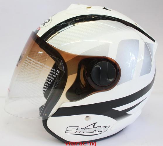 หมวกกันน็อค rider รุ่น Sharky ลาย เทาดำขาว  (เลิกผลิต)