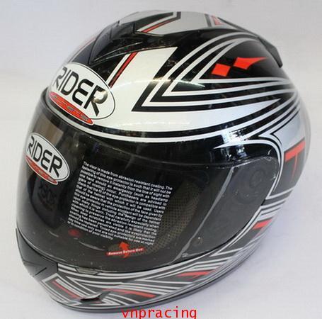 หมวกกันน็อค rider รุ่น Pro Street ลาย แดงดำขาว(เลิกผลิต)