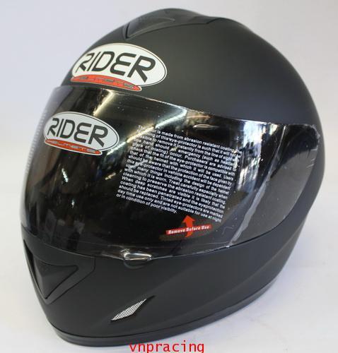 หมวกกันน็อค rider รุ่น Pro Street  สีดำด้าน (เลิกผลิต)