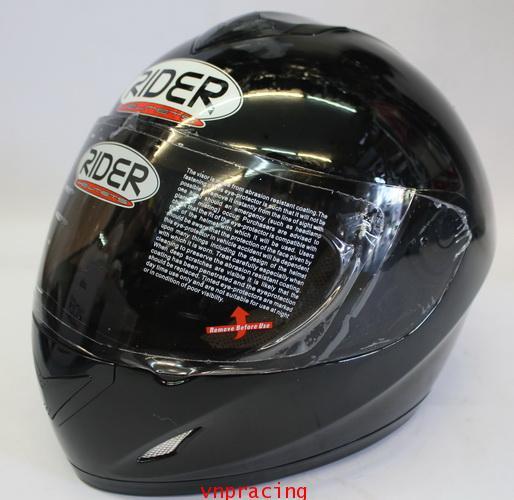 หมวกกันน็อค rider รุ่น Pro Street  สีดำ(เลิกผลิต)