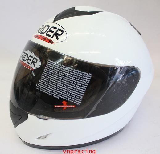 หมวกกันน็อค rider รุ่น Pro Street  สีขาว (เลิกผลิต)