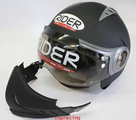 หมวกกันน็อค rider รุ่น Spider สี ดำด้าน (เลิกผลิต)