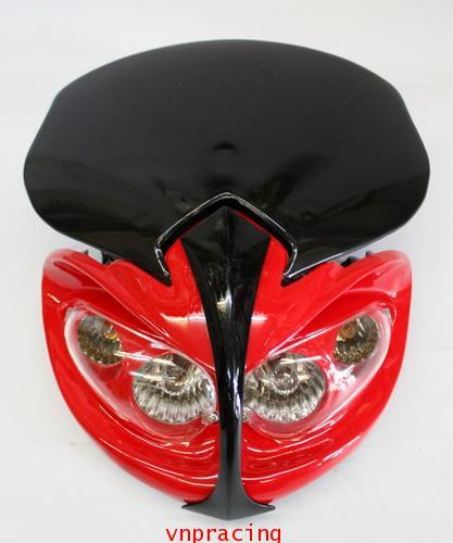 หน้ากากแต่ง KSR สีแดง  (ไม่มีสินค้า)
