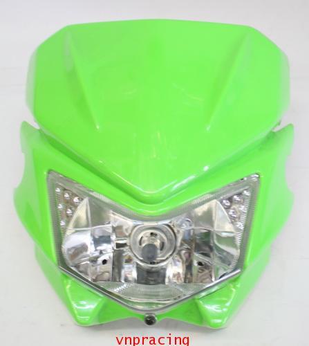 หน้ากากแต่ง KSR สีเขียว แบบ D-Tracker