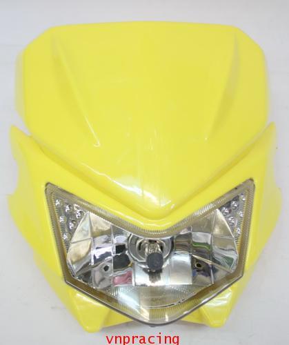 หน้ากากแต่ง KSR สีเหลือง แบบ D-Tracker