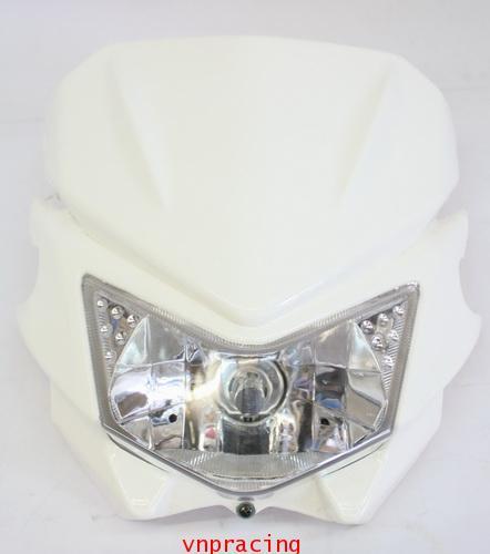 หน้ากากแต่ง KSR สีขาว แบบ D-Tracker