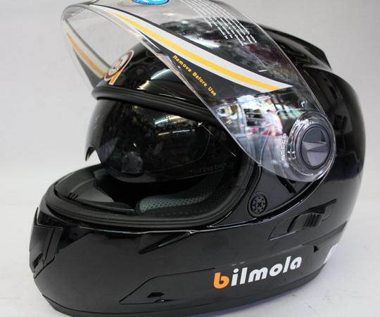 หมวกกันน็อคบิลโบล่า BILMOLA REPLICON แว่น 2 ชั้น สีดำเงา  (เลิกผลิต)