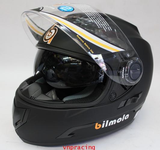 หมวกกันน็อคบิลโบล่า BILMOLA REPLICON แว่น 2 ชั้น สีดำด้าน  (เลิกผลิต)
