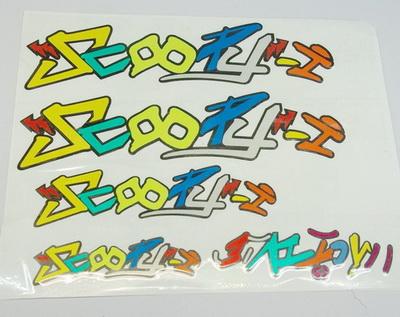 สติกเกอร์ 3M แท้ SCOOPY- I สคูปปี้ไอลาย 3