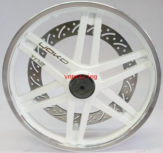 แม็ก YOKO reverse Brake Disc Set TT12 สีขาว