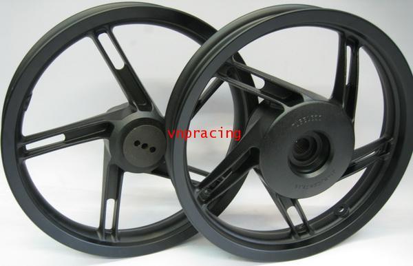 ล้อแม็ก DKK ลายแบบแท้เดิม PCX สำหรับ CLICK-125I-150I สีดำ