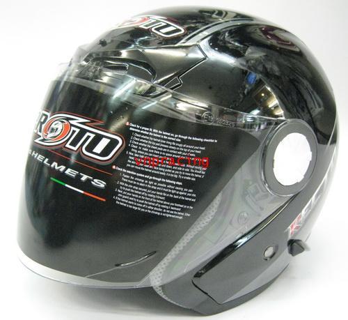 หมวกกันน็อต PROTO ครึ่งใบเปิดคาง รุ่น RECTO สีดำ (ไม่มีสินค้า)