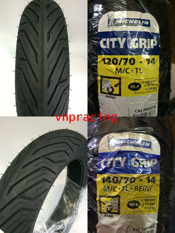 ยางนอกมิชลิน ซิตี้ กิ๊พ เบอร์ใหญ่ (Michelin City Grip) ขอบ14นิ้ว 120,140/70-14
