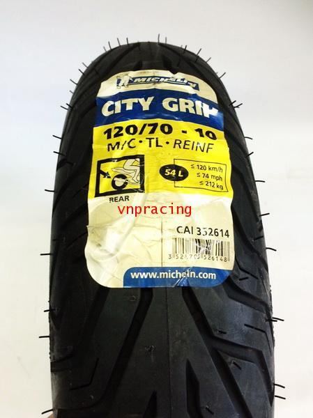 ยางนอกมิชลิน ซิตี้ กิ๊พ (Michelin City Grip) ขอบ10นิ้ว 120/70-10