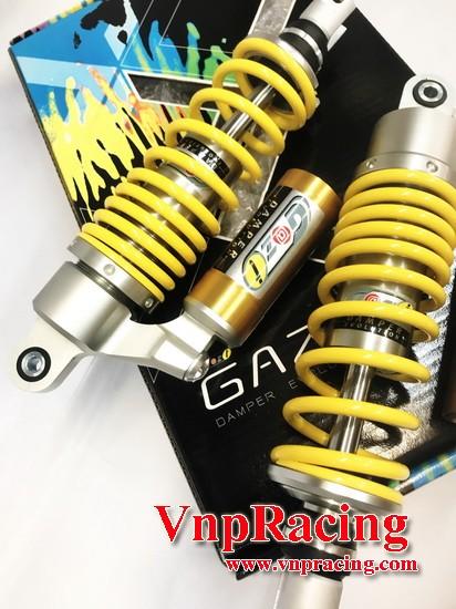 โช๊คหลัง GAZI NEW HIPER RX สีเหลือง ปรับหนืดได้ สำหรับ AEROX