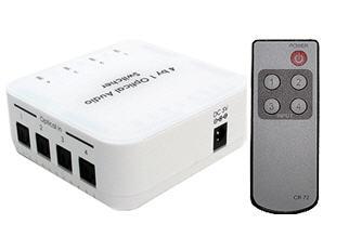 OPTISW-4P_Premium 4-Port Digital Optical Audio 24/192 kHz Switch With Remote