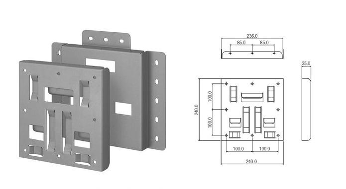 ขาแขวนทีวี,LED,LCD TV SAMSUNG 32 - 40 นิ้ว_WMTL4001XLED