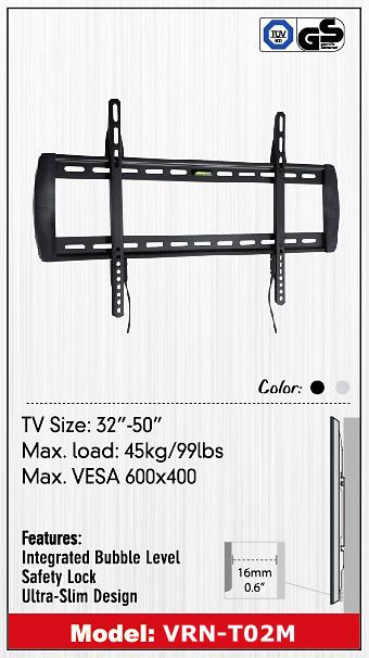 ขาแขวน LCD,LED TV รุ่น VRN-T02M Ultra Thin 32- 50 inch