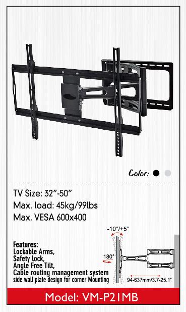 ขาแขวน LCD,LED,PLASMA TV 32-50 นิ้วรุ่น VM-P21MB02