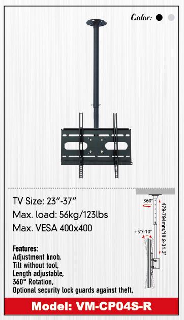 ขาแขวน LCD,LED,PLASMA TV ติดเพดาน รุ่น VM-CP04S-R-L