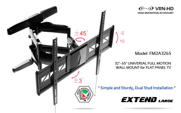 ขาแขวนทีวี,LED,LCD TV Full Motion Multi-Arm TV Wall Mount_FM2A3265