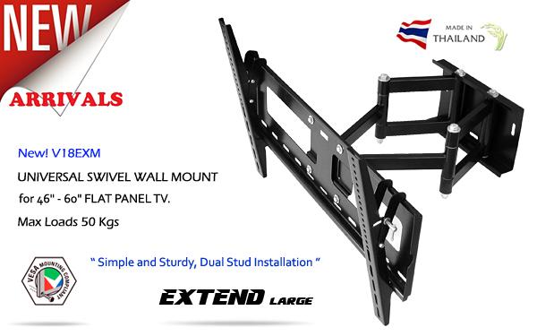 ขาแขวนทีวี,LED,LCD,Plasma TV,Full Motion Multi-Arm TV Wall Mount_V18EXM