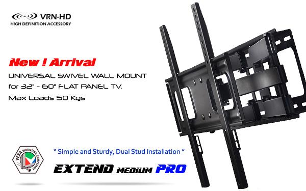 DA6400-M Extend Medium PRO ขาแขวนทีวี 32 - 60 inch LED,LCD TV,Full Motion Multi-Arm TV Wall Mount