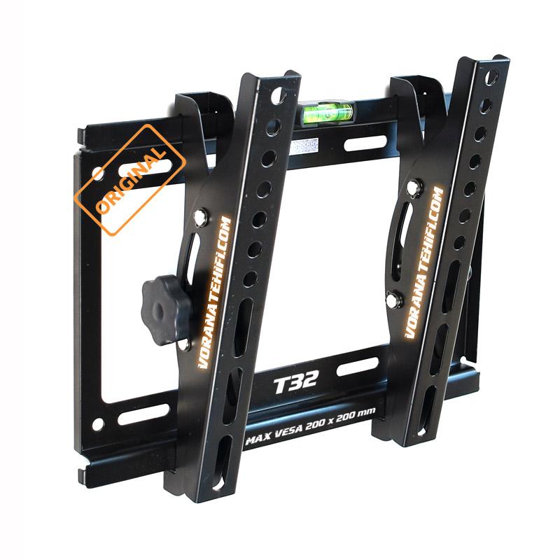 T32 ขาแขวนทีวี LED TV ปรับก้ม-เงยได้ สำหรับทีวี 14-43นิ้ว ที่มีรูยึดขาแขวนไม่เกิน 20x20 ซม.