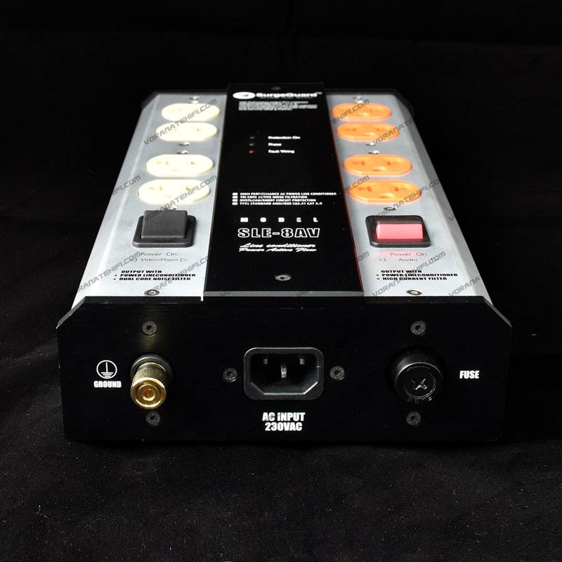 SurgeGuard SLE-8AV Top Class เครื่องลดทอนไฟกระชากและสัญญาณรบกวนด้วยระบบ Tri-Core Noise Filter 1