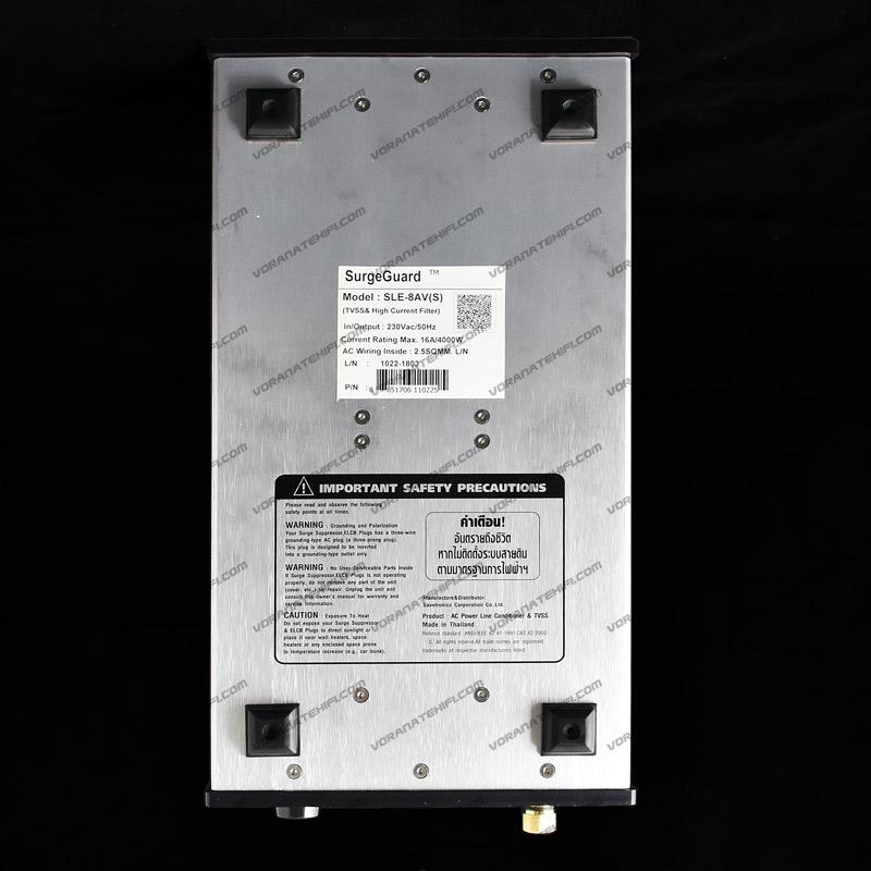 SurgeGuard SLE-8AV Top Class เครื่องลดทอนไฟกระชากและสัญญาณรบกวนด้วยระบบ Tri-Core Noise Filter 2