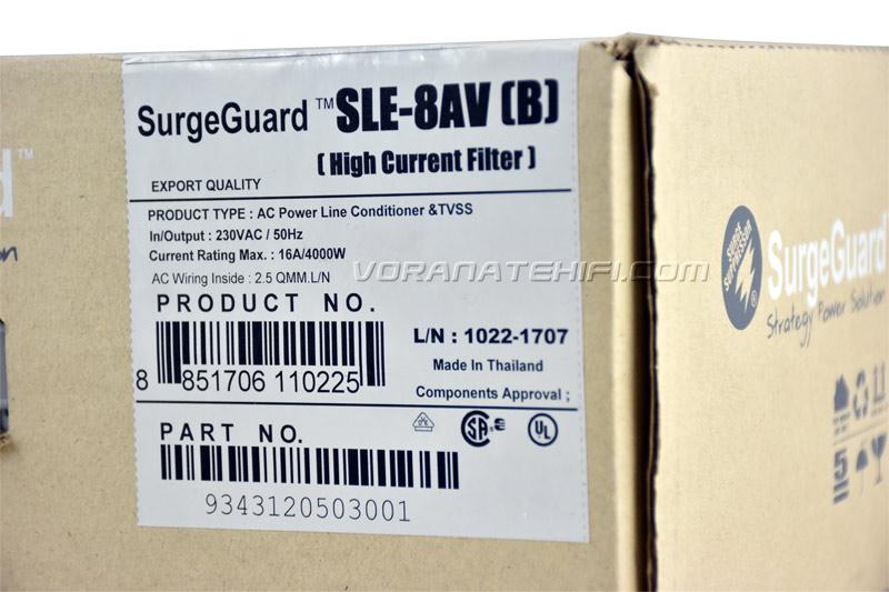 SurgeGuard SLE-8AV Top Class เครื่องลดทอนไฟกระชากและสัญญาณรบกวนด้วยระบบ Tri-Core Noise Filter 5