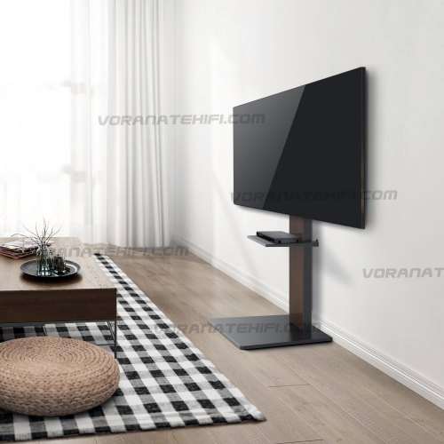 F7300-Dark Walnut ขาตั้งทีวี 37-70 นิ้ว Pure Flat Design TV Stand with Equipment shelf