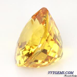 [GIT Certified]บุษราคัม(Yellow Sapphire) 6.33 ct เหลืองมะนาว ไฟเต็ม ไม่ผ่านการเผา 3
