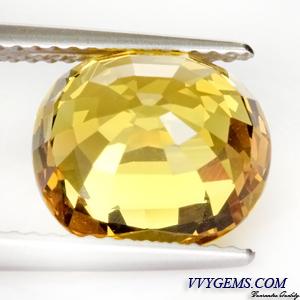 [GIT Certified]บุษราคัม(Yellow Sapphire) 6.33 ct เหลืองมะนาว ไฟเต็ม ไม่ผ่านการเผา 4