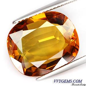 บุษราคัม(Yellow Sapphire) 10.10 กะรัต แม่โขงทอง IF
