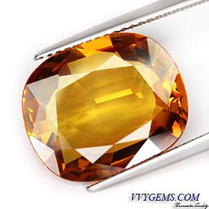 บุษราคัม(Yellow Sapphire) 10.10 กะรัต แม่โขงทอง IF 1
