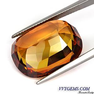 [GIT CERTIFIED]บุษราคัม(Yellow Sapphire) 23.15 กะรัต เม็ดใหญ่ สีแม่โขงเข้มสวย[VDO] 3