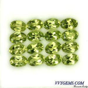 เพอริดอท(Peridot) 16 เม็ด 6x4 mm [เหลือ 30 ชุด]